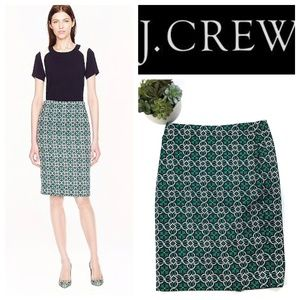 J.Crew No. 2 Lattice Medallion Pencil Skirt